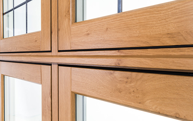Timber Effect Flush uPVC Window