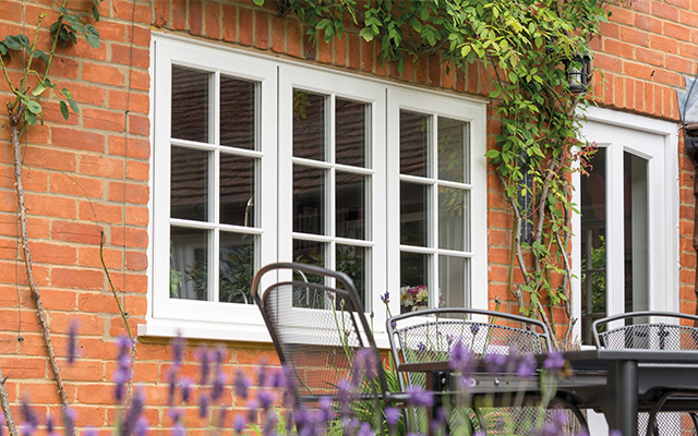 Double Glazing With Timber Effect