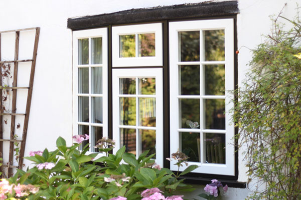 Project Image for Black and White Tudor-Style Evolution Storm Timber-Effect Windows, Berkshire