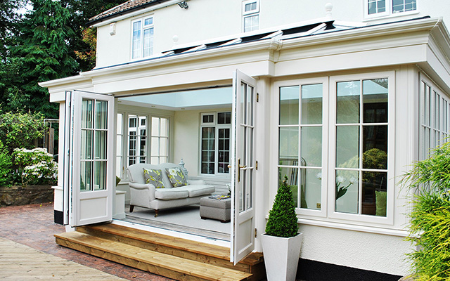 garden room french doors